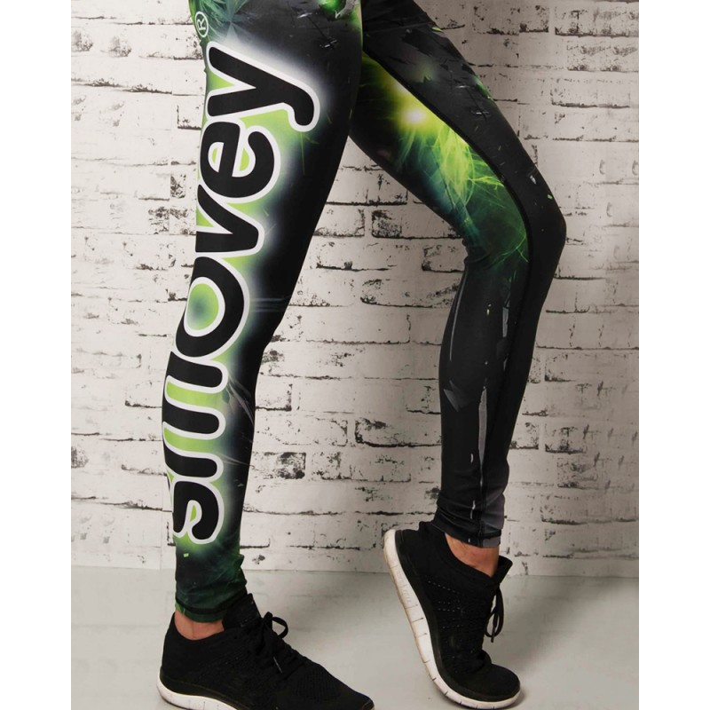 FITNESS PANTS - Green Crystal Camouflage | women | S