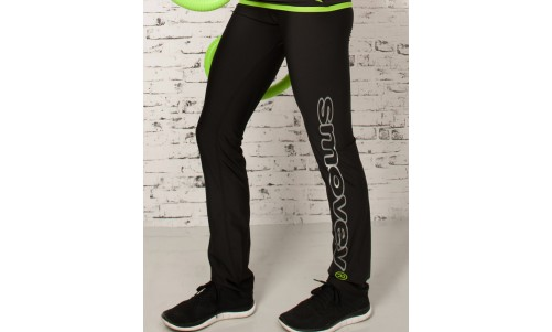 FITNESS PANTS - BLACK-GREEN | women