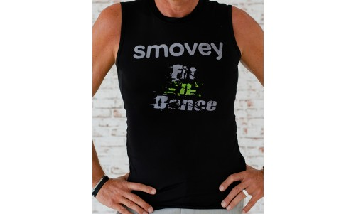 FITNESS SHIRT - BLACK-GREEN | men